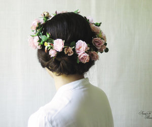 boho, flower crown, and midsummer nights dream image