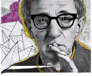 illustration and woody allen image