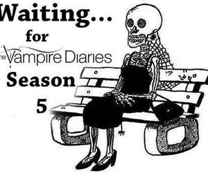 waiting, tvd, and the vampire diaries image