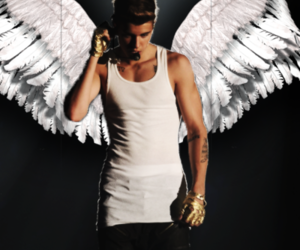 angel, baby, and justin bieber image