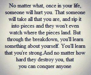 quote, life, and hurt image
