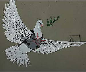 BANKSY, dove, and peace image