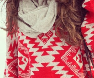 girl, red, and sweater image