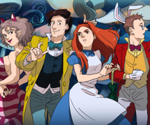 alice in wonderland, doctor who, and amy pond image