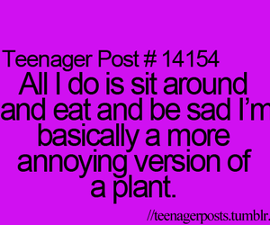 quote, plant, and teenager post image