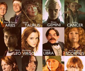 harry potter, zodiac, and aries image