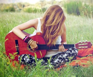 girl and guitar image
