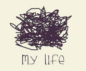 life and text image
