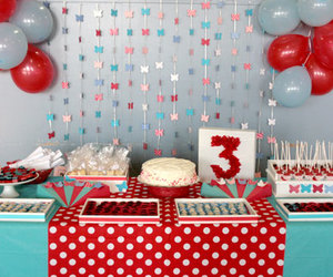 birthday decor and butterfly image