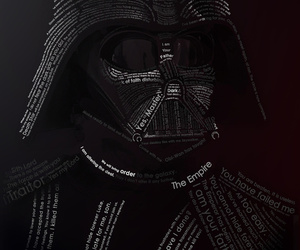 star wars, typography, and darth vader image