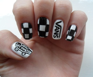 nails, vans, and black image