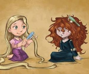 disney, hair, and rapunzel image