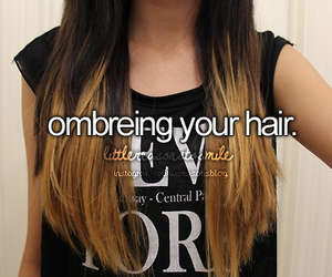 hair, ombre, and ombreing image