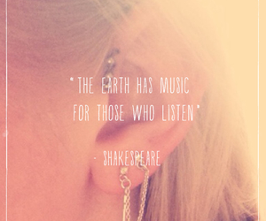 listen, music, and shakespeare image
