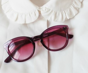 girly, pink, and sunglasses image