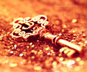 key, sparkle, and gold image