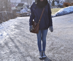 bag, converse, and snow image