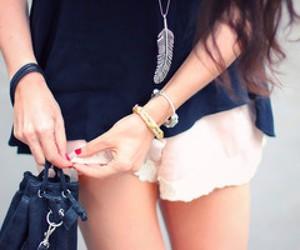 blue, shorts, and fashion image