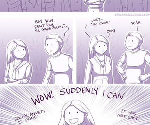 funny, social, and social anxiety image