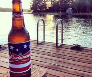 alcohol, dock, and summer image