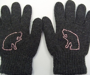 cats, pink, and embroidery image