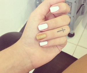 nails, tattoo, and white image
