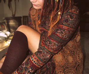 bohemian, natural, and style image