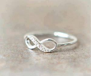 ring, infinity, and silver image