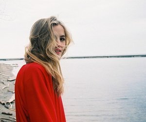 girl, red, and indie image