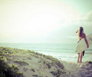 surf, summer, and girl image