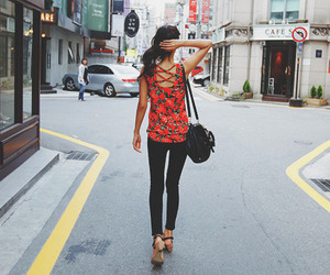 girl, fashion, and street image