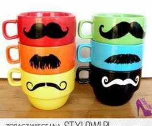 colourful, cup, and funny image
