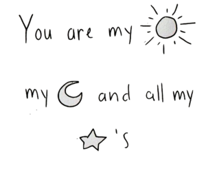 quote, moon, and stars image
