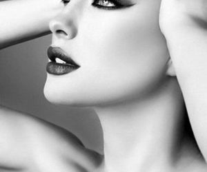 black and white, makeup, and make up image