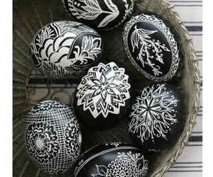 eggs, easter, and black image