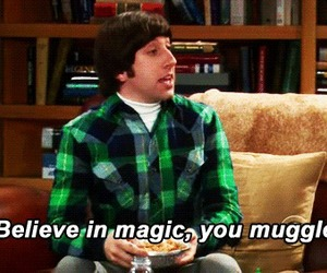 the big bang theory, muggle, and magic image