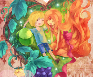 adventure time, finn, and flame image