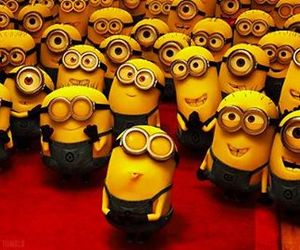 minions, kiss, and despicable me image
