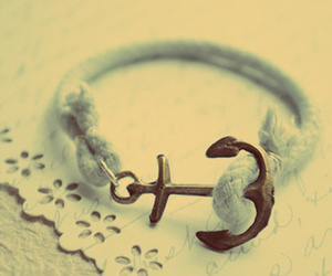 anchor, bracelet, and white image