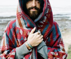 beard, man, and boy image