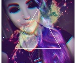 acid, blue, and blue hair image
