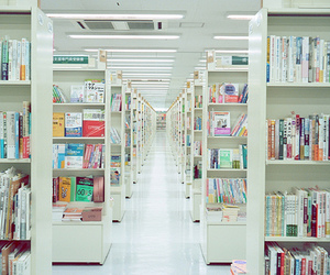 book, library, and japan image