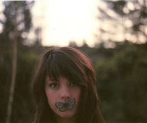 girl, butterfly, and vintage image