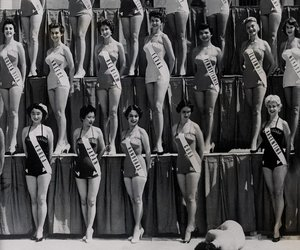 vintage, girls, and miss image