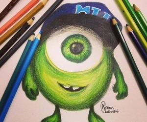cute, green, and mike image