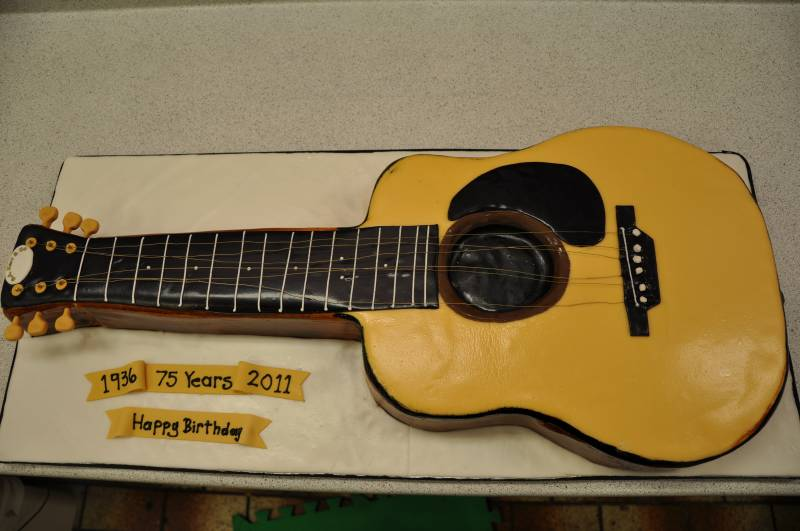 Surprising Guitar Shaped Cake Created By Pastry Chefs On We Heart It Funny Birthday Cards Online Barepcheapnameinfo