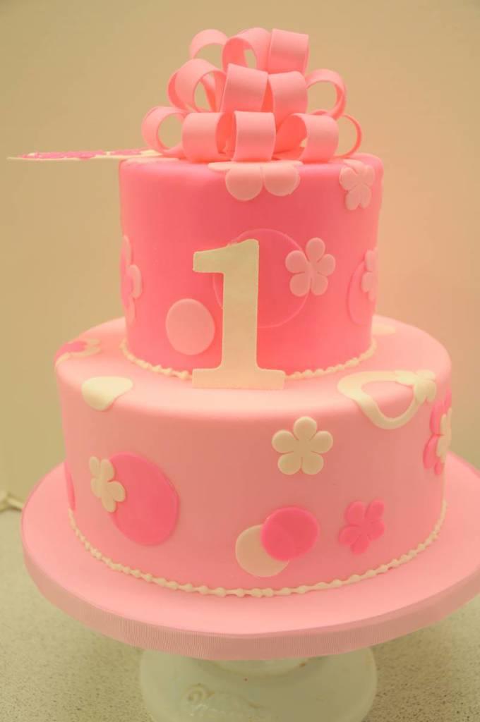 Awe Inspiring Custom Designed Birthday Cake For One Year Old By Karen Silliter Funny Birthday Cards Online Inifodamsfinfo
