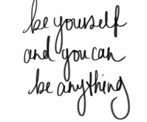 quotes, text, and be yourself image