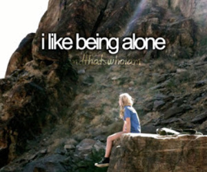 alone, quote, and me image