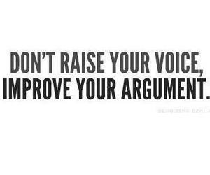 argument, powerfull, and voice image